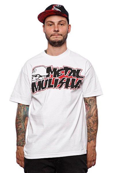 Футболка Metal Mulisha Corpo 2 White<br><br>Цвет: белый<br>Тип: Футболка<br>Возраст: Взрослый<br>Пол: Мужской
