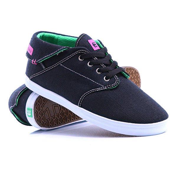 Кеды кроссовки высокие женские Etnies Girl Caprice Mid Eco Ws Black/Gum кеды кроссовки высокие dc council mid tx stone camo