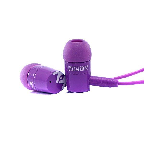 Наушники Frends The Coupe PurpleДинамики: 10 ммДиапазон: 16 гЦ - 20 кГцЧувствительность: 106 дБСопротивление: 32 ОмШтекер: 3,5 ммДлина кабеля: 1,3 метраЕсть микрофонДанные наушники полностью совместимы только с устройствами Apple и BlackBerry.<br><br>Тип: Внутриканальные наушники<br>Возраст: Взрослый<br>Пол: Мужской