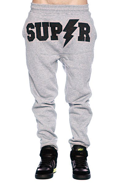 Штаны прямые унисекс Super SUPER Grey