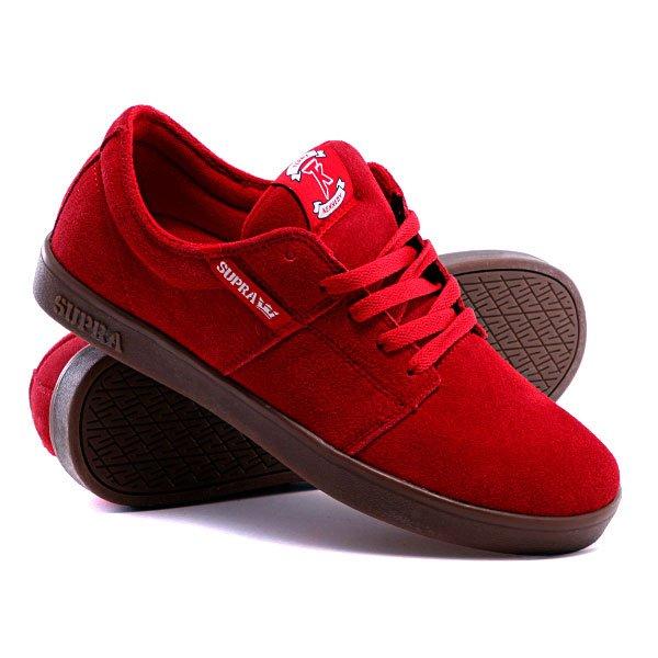 Кеды кроссовки Supra Stacks Red Suede Модель кед Supra Stacks 70f135892eb