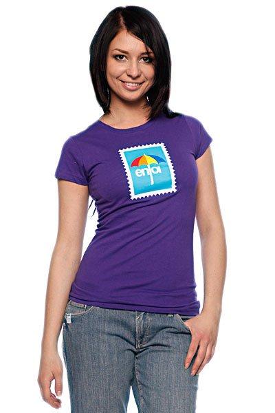 Футболка женская Enjoi Postage Purple<br><br>Цвет: фиолетовый<br>Тип: Футболка<br>Возраст: Взрослый<br>Пол: Женский