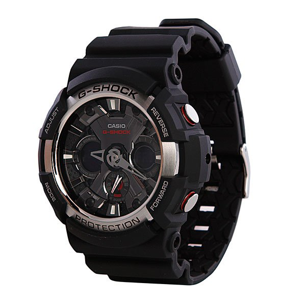 Часы Casio G-Shock GA-200-1A часы casio g shock ga 110gb 1a
