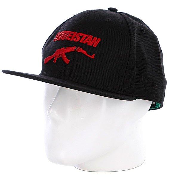 Бейсболка New Era Fallen Skateistan NewEra Black/Red<br><br>Цвет: черный<br>Тип: Бейсболка с прямым козырьком<br>Возраст: Взрослый