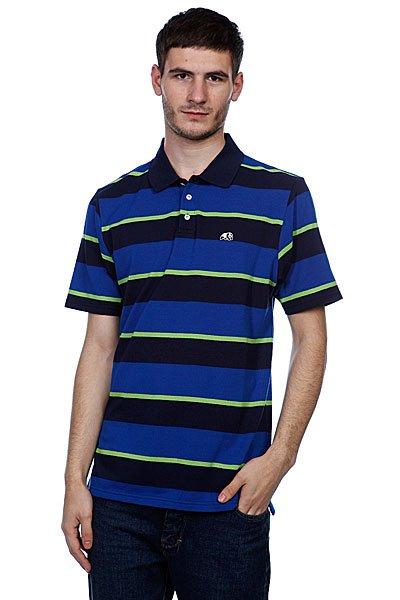 Поло Enjoi Strolo Striped Blue<br><br>Цвет: голубой,черный<br>Тип: Поло<br>Возраст: Взрослый<br>Пол: Мужской