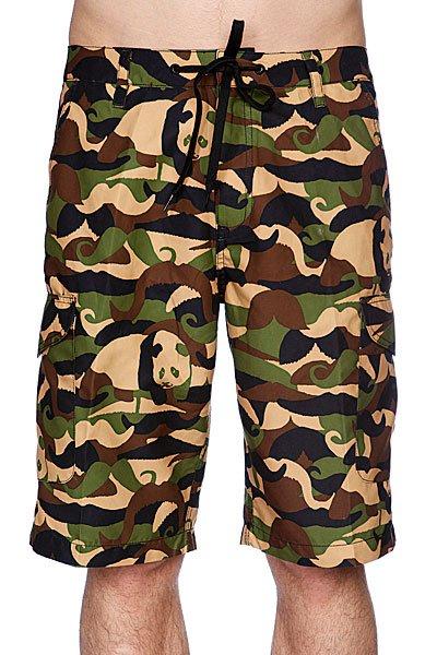 Классические мужские шорты Enjoi New Jersey Short Camoustache<br><br>Цвет: зеленый<br>Тип: Шорты классические<br>Возраст: Взрослый<br>Пол: Мужской