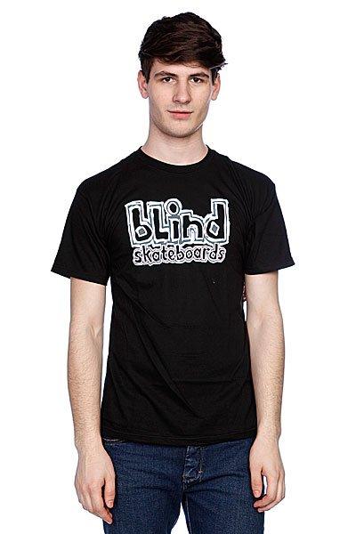 Футболка Blind Blind Skateboards Black<br><br>Цвет: черный<br>Тип: Футболка<br>Возраст: Взрослый<br>Пол: Мужской