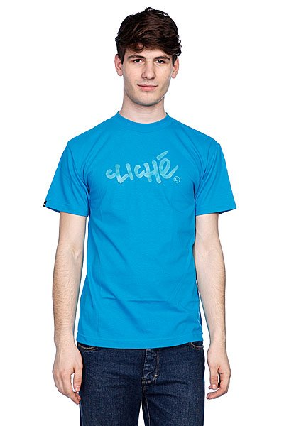 Футболка Cliche Handwritten Classic Turquoise<br><br>Цвет: голубой<br>Тип: Футболка<br>Возраст: Взрослый<br>Пол: Мужской