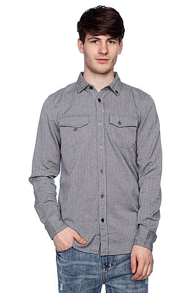 Рубашка Globe Swindle Shirt Gunmetal<br><br>Цвет: серый<br>Тип: Рубашка<br>Возраст: Взрослый<br>Пол: Мужской