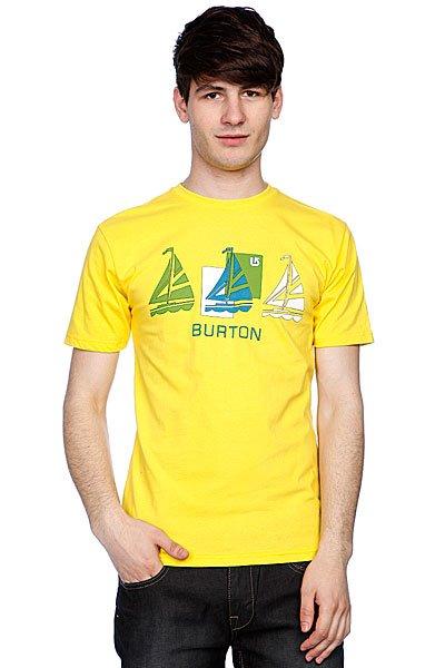 Футболка Burton Smooth Sailin Gold Medal<br><br>Цвет: желтый<br>Тип: Футболка<br>Возраст: Взрослый<br>Пол: Мужской