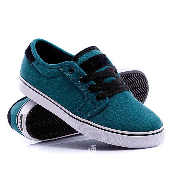 Кеды кроссовки Fallen Forte Harbor Blue/BlackЦвет дополнительных шнурков:белый<br><br>Цвет: зеленый<br>Тип: Кеды низкие<br>Возраст: Взрослый<br>Пол: Мужской