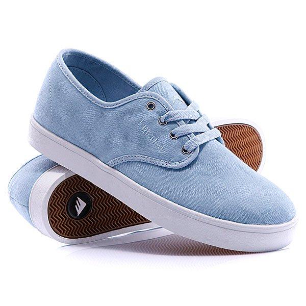Кеды кроссовки Emerica Laced Blue/White/GumКоманда Emerica, вдохновленная любителями скейтбординга, разработала модель кед Laced – относительно недорогую, ультралегкую и супер-тонкую модель, которая, несмотря на свое имя, предназначена для ношения без шнурков. Не волнуйтесь, специальная скрытая резинка будет держать форму ботинка. Но, мы поставляем комплект шнурков в случае, если Вы захотите ими воспользоваться. Характеристики:  Верх – облегченный замш в сочетании с текстилем.  Подошва из натуральной резины.  Стелька, изготовленная по технологии STI ™ (из специальной формирующей пены) для улучшения амортизации.<br><br>Цвет: голубой<br>Тип: Кеды низкие<br>Возраст: Взрослый<br>Пол: Мужской