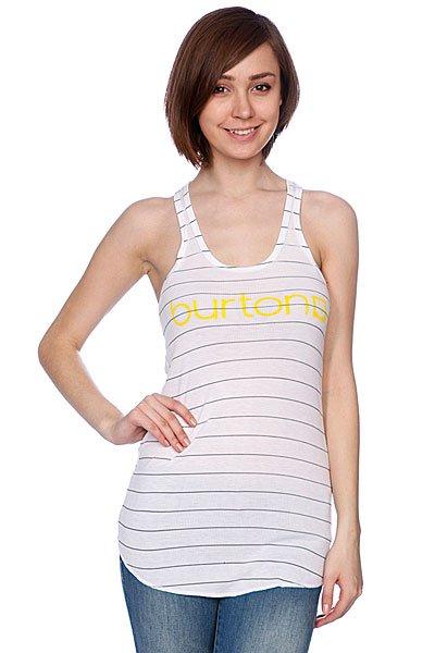 Майка женская Burton Her Logo Bright White<br><br>Цвет: белый<br>Тип: Майка<br>Возраст: Взрослый<br>Пол: Женский