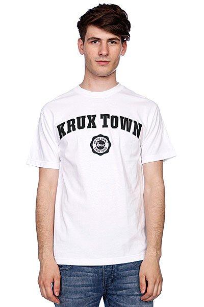 Футболка Krux K-Town White<br><br>Цвет: белый<br>Тип: Футболка<br>Возраст: Взрослый<br>Пол: Мужской