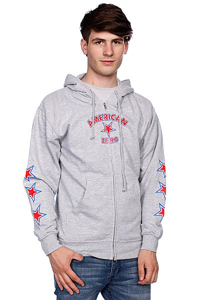 Толстовка Zero American Zero Heather Grey<br><br>Цвет: серый<br>Тип: Толстовка классическая<br>Возраст: Взрослый<br>Пол: Мужской