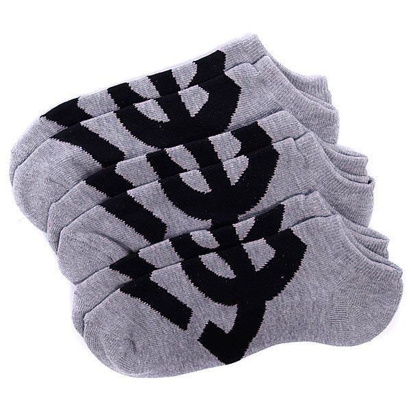 Носки DC Suspension 2 No-Show Socks Heather Grey (3-Pack) Proskater.ru 650.000