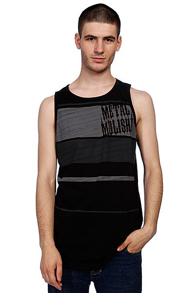 ����� Metal Mulisha Banded Tank Black