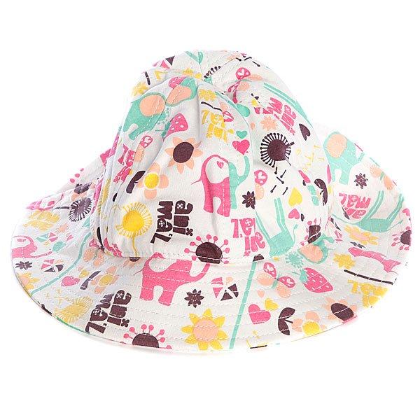 Шляпа женская Animal Bena MulticolorКлассическая шляпа из хлопка – неизменный летний аксессуар для защиты от солнца.Характеристики:Яркий принт. Широкие поля.<br><br>Цвет: белый<br>Тип: Шляпа<br>Возраст: Взрослый<br>Пол: Женский