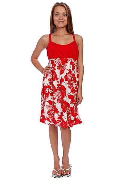Платье женское Animal Lizzie RedЯркое летнее платье свободного кроя с насыщенным цветочным принтом.Технические характеристики: Свободный крой.Тонкие лямки.Однотонный верх.Завышенная талия на резинке.Свободная юбка с ярким цветочным принтом.<br><br>Цвет: белый,красный<br>Тип: Платье<br>Возраст: Взрослый<br>Пол: Женский