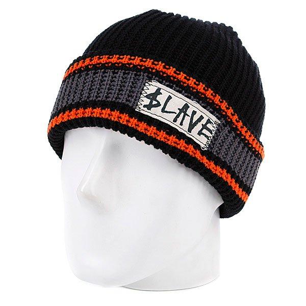 Шапка Slave Striped Black/Grey/Orange<br><br>Цвет: черный<br>Тип: Шапка<br>Возраст: Взрослый
