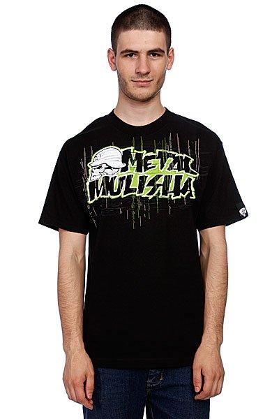 Футболка Metal Mulisha Frequency Black/Green<br><br>Цвет: черный<br>Тип: Футболка<br>Возраст: Взрослый<br>Пол: Мужской