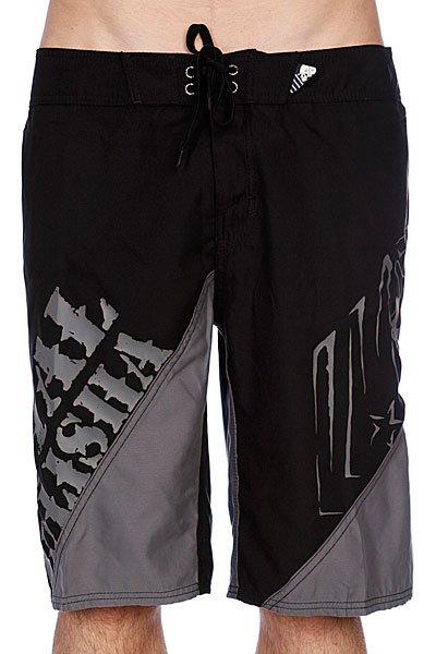 Пляжные мужские шорты Metal Mulisha Lift Black<br><br>Цвет: черный<br>Тип: Шорты пляжные<br>Возраст: Взрослый<br>Пол: Мужской
