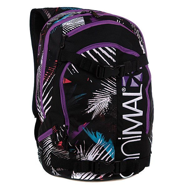 Рюкзак женский Animal Louisiana Black/Purple Proskater.ru 2029.000