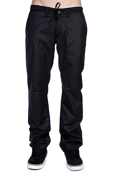 Штаны Globe Salford Suit Pant Gunmetal<br><br>Цвет: черный<br>Тип: Штаны прямые<br>Возраст: Взрослый<br>Пол: Мужской