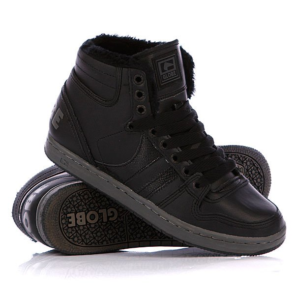 Кеды кроссовки утепленные Globe Destroyer Mid Fur Black/Vintage Black рюкзак case logic 17 3 prevailer black prev217blk mid