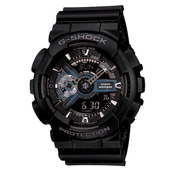 Часы Casio G-Shock GA-110-1BПросто немного наклоните часы к себе, чтобы включилась светодиодная подсветка циферблата.Благодаря противоударной защите часы могут выдержать достаточно сильный удар или сотрясение без негативных последствий.Корпус данной модели экранирует механизм от воздействия магнитных полей.С помощью функции мирового времени часы отображают время в 29 часовых поясах.Измеряет промежуток времени и время окончания с точностью до тысячных секунд. Сопровождается сигналами запуска/ остановки работы секундомера. Измеряемая способность до 100 часовДля поклонников точности: в заданное время таймер обратного отсчета с помощью звукового сигнала напомнит вам о текущих или особенных событиях. Сигнал можно установить как на следующую минуту, так и на любое время до 24 часов. Также отсчет может начаться в заранее заданное время. Идеально подойдет тем, кому необходимо ежедневно принимать лекарства, а также при тренировках с чередующимися нагрузками.Ежедневный сигнал напомнит вам о текущих делах с помощью установленного на определенное время звукового сигнала. Также по истечении каждого часа часы могут издавать сигнал, который вы можете отключить. Эта модель имеет пять независимых сигналов, что особенно удобно для напоминания о регулярных делах или встречах.После прекращения сигнала будильника он снова начинает звучать спустя несколько секунд.Батарейка обеспечит работу всех функций часов на протяжении около 2 лет.Различная длина месяцев (28, 30 или 31 день) корректируется автоматически.Прочное и устойчивое к царапинам минеральное стекло защищает часы от любых повреждений, которые могут испортить внешний вид часов.Пластиковый корпус.Ремешок из пластика.Отлично подходят для ныряния без акваланга: выдерживают давление до 20 бар / 200 метров. Эта величина означает не допустимую глубину погружения, а атмосферное давление, которое выдерживает модель во время теста на водонепроницаемость (ISO 2281).Точность хода +/- 15 секунд в месяц.Тип батарейки CR1220.Размеры: 55 мм x 51