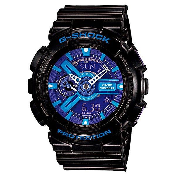 Часы Casio G-Shock GA-110HC-1AПросто немного наклоните часы к себе, чтобы включилась светодиодная подсветка циферблата.Благодаря противоударной защите часы могут выдержать достаточно сильный удар или сотрясение без негативных последствий.Корпус данной модели экранирует механизм от воздействия магнитных полей.С помощью функции мирового времени часы отображают время в 29 часовых поясах.Измеряет промежуток времени и время окончания с точностью до тысячных секунд. Сопровождается сигналами запуска/ остановки работы секундомера. Измеряемая способность до 100 часовДля поклонников точности: в заданное время таймер обратного отсчета с помощью звукового сигнала напомнит вам о текущих или особенных событиях. Сигнал можно установить как на следующую минуту, так и на любое время до 24 часов. Также отсчет может начаться в заранее заданное время. Идеально подойдет тем, кому необходимо ежедневно принимать лекарства, а также при тренировках с чередующимися нагрузками.Ежедневный сигнал напомнит вам о текущих делах с помощью установленного на определенное время звукового сигнала. Также по истечении каждого часа часы могут издавать сигнал, который вы можете отключить. Эта модель имеет пять независимых сигналов, что особенно удобно для напоминания о регулярных делах или встречах.После прекращения сигнала будильника он снова начинает звучать спустя несколько секунд.Батарейка обеспечит работу всех функций часов на протяжении около 2 лет.Различная длина месяцев (28, 30 или 31 день) корректируется автоматически.Прочное и устойчивое к царапинам минеральное стекло защищает часы от любых повреждений, которые могут испортить внешний вид часов.Пластиковый корпус.Ремешок из пластика.Отлично подходят для ныряния без акваланга: выдерживают давление до 20 бар / 200 метров. Эта величина означает не допустимую глубину погружения, а атмосферное давление, которое выдерживает модель во время теста на водонепроницаемость (ISO 2281).Точность хода +/- 15 секунд в месяц.Тип батарейки CR1220.Размеры: 55 мм x 