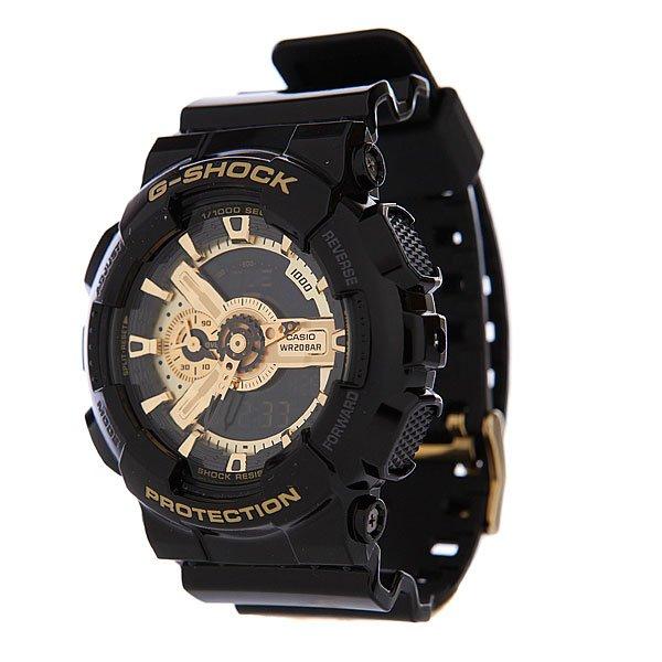 Часы Casio G-Shock GA-110GB-1AПросто немного наклоните часы к себе, чтобы включилась светодиодная подсветка циферблата.Благодаря противоударной защите часы могут выдержать достаточно сильный удар или сотрясение без негативных последствий.Корпус данной модели экранирует механизм от воздействия магнитных полей.С помощью функции мирового времени часы отображают время в 29 часовых поясах.Измеряет промежуток времени и время окончания с точностью до тысячных секунд. Сопровождается сигналами запуска/ остановки работы секундомера. Измеряемая способность до 100 часовДля поклонников точности: в заданное время таймер обратного отсчета с помощью звукового сигнала напомнит вам о текущих или особенных событиях. Сигнал можно установить как на следующую минуту, так и на любое время до 24 часов. Также отсчет может начаться в заранее заданное время. Идеально подойдет тем, кому необходимо ежедневно принимать лекарства, а также при тренировках с чередующимися нагрузками.Ежедневный сигнал напомнит вам о текущих делах с помощью установленного на определенное время звукового сигнала. Также по истечении каждого часа часы могут издавать сигнал, который вы можете отключить. Эта модель имеет пять независимых сигналов, что особенно удобно для напоминания о регулярных делах или встречах.После прекращения сигнала будильника он снова начинает звучать спустя несколько секунд.Батарейка обеспечит работу всех функций часов на протяжении около 2 лет.Различная длина месяцев (28, 30 или 31 день) корректируется автоматически.Прочное и устойчивое к царапинам минеральное стекло защищает часы от любых повреждений, которые могут испортить внешний вид часов.Пластиковый корпус.Ремешок из пластика.Отлично подходят для ныряния без акваланга: выдерживают давление до 20 бар / 200 метров. Эта величина означает не допустимую глубину погружения, а атмосферное давление, которое выдерживает модель во время теста на водонепроницаемость (ISO 2281).Точность хода +/- 15 секунд в месяц.Тип батарейки CR1220.Размеры: 55 мм x 