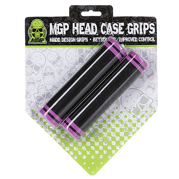 Грипсы для самоката Mgp Head Case Grips Black With Purple Ring (2 Pack) Proskater.ru 1020.000