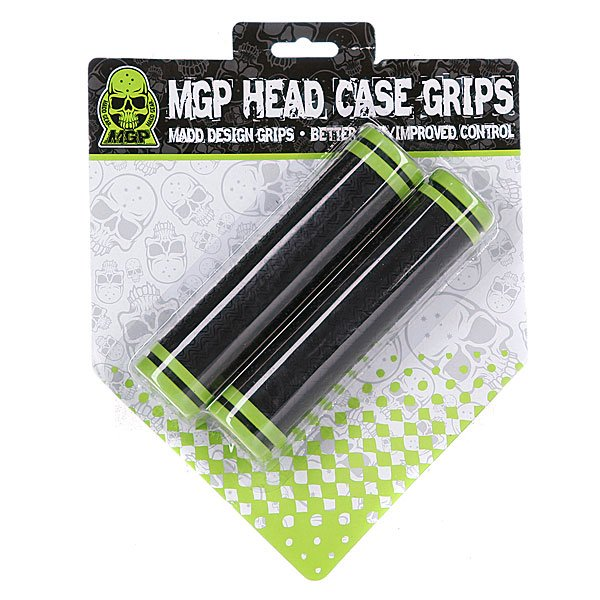 Грипсы для самоката Mgp Head Case Grips Black With Green Ring (2 Pack) Proskater.ru 1020.000