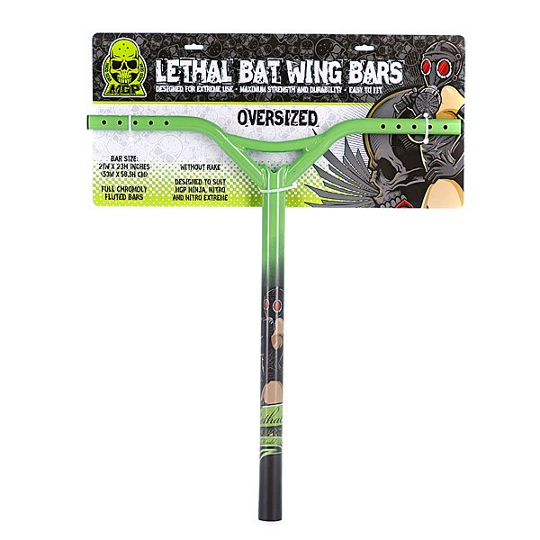 Руль для самоката Mgp Bat Wing Oversize Straight Lethal Green/Black 35mm-21 X23 Proskater.ru 3710.000