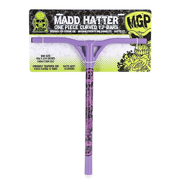 Руль для самоката Mgp Y-Bar New Design Madd Hatter Purple 31.8mm-18 X22Руль для трюкового самоката. Характеристики:Изготовлен из анодированного алюминия и полиуретана.<br><br>Тип: Руль для самоката