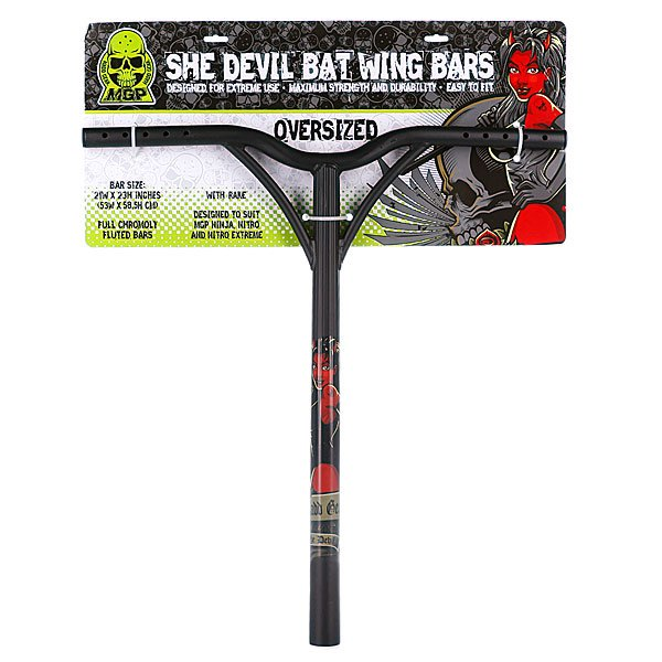 Руль для самоката Mgp Bat Wing Oversize With Rake Extreme She Devil Black 35mm-21 X23<br><br>Тип: Руль для самоката