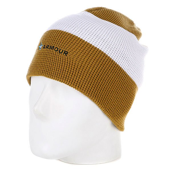 Шапка носок Armour Stripe Beanie Brown/White цена