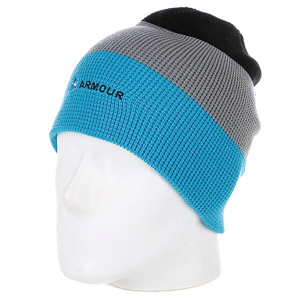 Шапка носок мужская Armour Stripe Beanie Blue/Grey шапка носок armour stripe beanie brown white