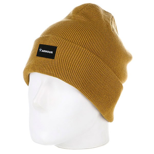 Шапка Armour True Beanie Brown цена