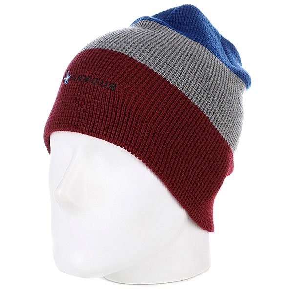 Шапка носок Armour Stripe Beanie Red/Grey