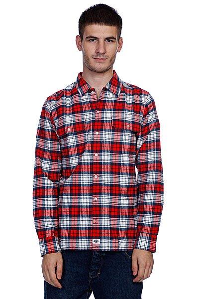 Рубашка в клетку Dickies Flannel Stc/Fred/Navy<br><br>Цвет: красный,белый<br>Тип: Рубашка в клетку<br>Возраст: Взрослый<br>Пол: Мужской