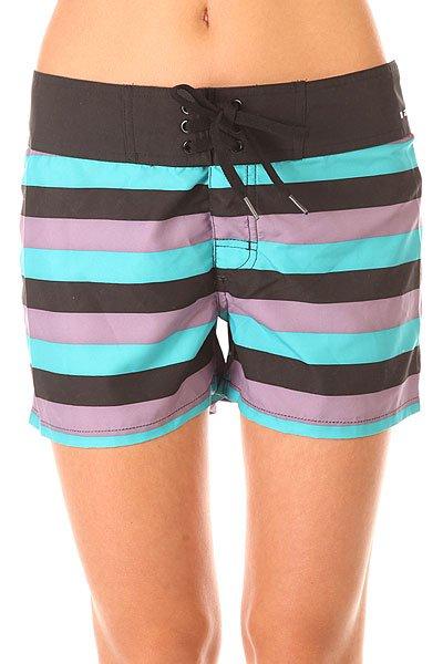 Шорты пляжные женские Oakley The Most Boardie Chrome Purple<br><br>Цвет: черный,голубой<br>Тип: Шорты пляжные<br>Возраст: Взрослый<br>Пол: Женский