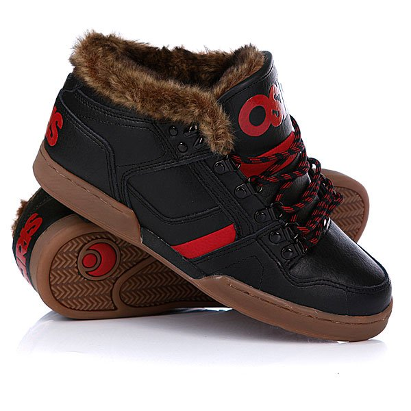 ���� ��������� ���������� Osiris Nyc 83 Mid Shr Black/Red/Gum