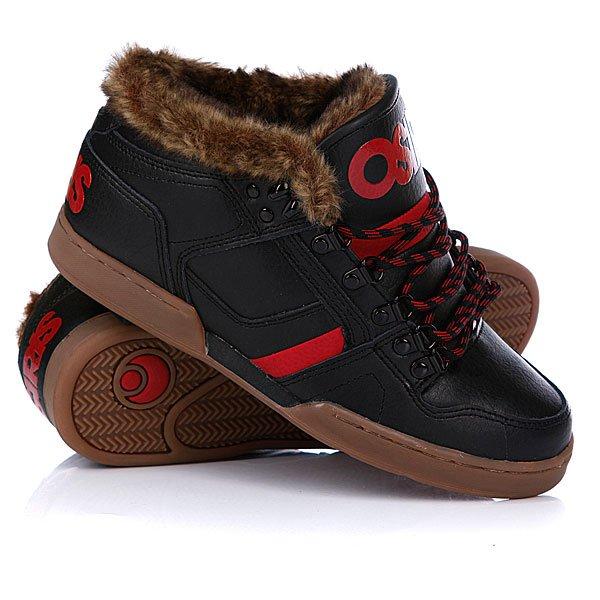 Кеды кроссовки утепленные Osiris Nyc 83 Mid Shr Black/Red/Gum