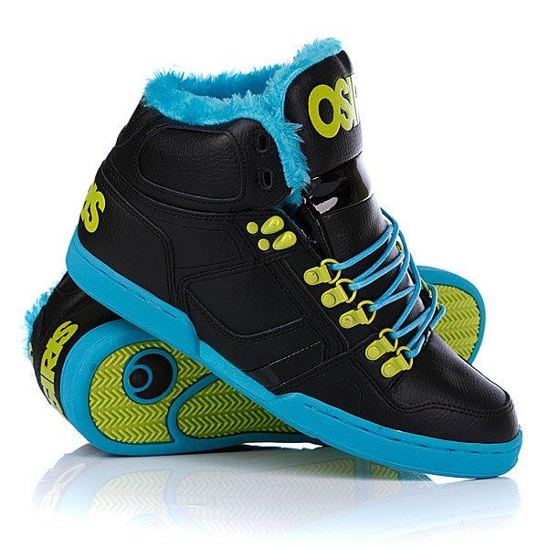 Кеды кроссовки утепленные Osiris Nyc 83 Shr Black/Teal/Lime