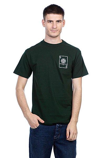 Футболка Independent Card Hunter Green<br><br>Цвет: зеленый<br>Тип: Футболка<br>Возраст: Взрослый<br>Пол: Мужской