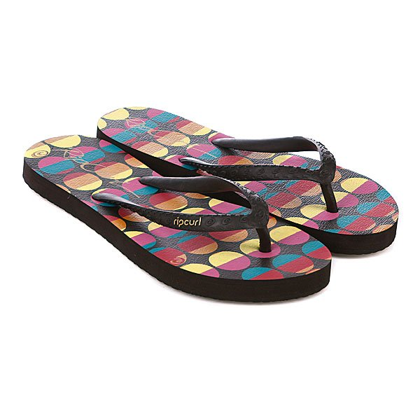 Шлепанцы детские Rip Curl Dots And Stripes Chocolate Proskater.ru 399.000