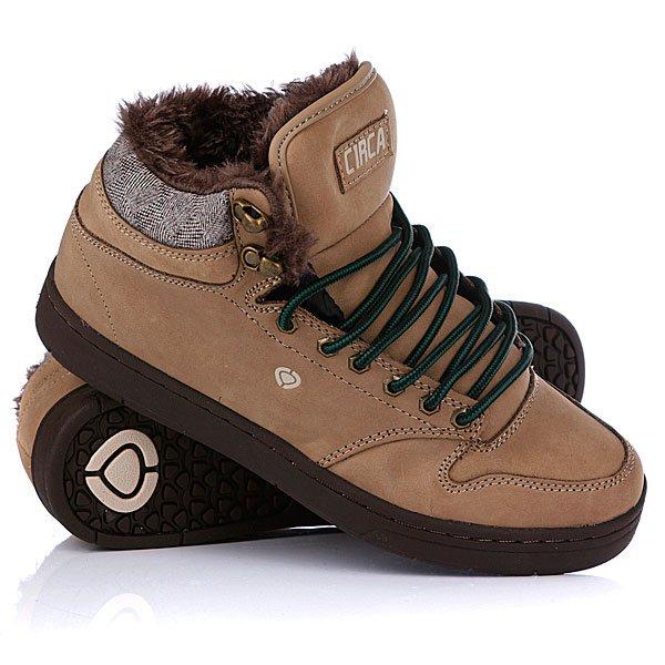 Кеды кроссовки утепленные Circa Lurker Camel/Brown Tweed/Fur