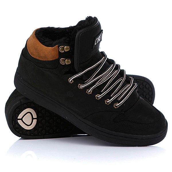 Кеды кроссовки утепленные Circa Lurker Black/Chipmunk/Fur